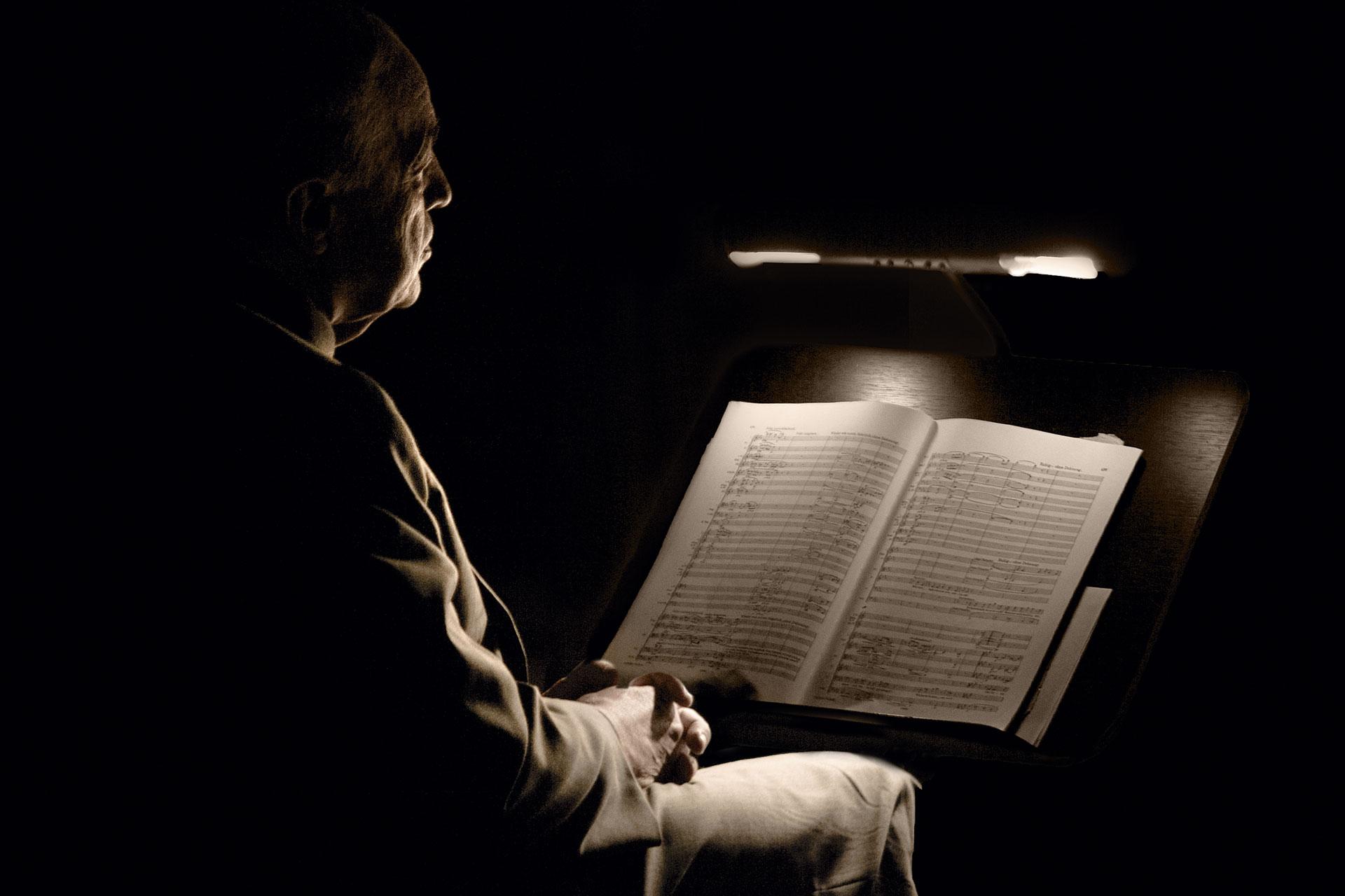 Portraitfotografie, Dirigent, Pierre Boulez